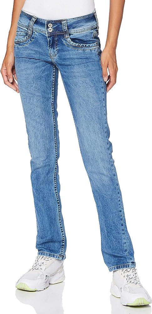Pépé jeans,gen jeans straight per donna,92.5% cotone, 6% poliestere, 1.5% elastan PL201157MF50