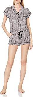 Tommy Hilfiger Women's Sleeve Top and Short Classic Pajama Set Pj