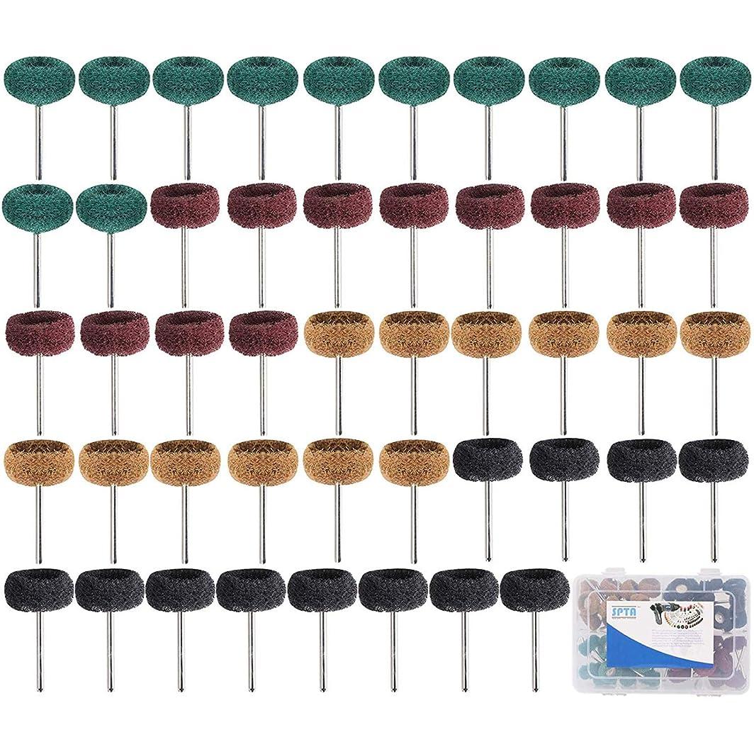 成功付録支出SPTA 25mm 仕上げ研磨用バフ 80#-300# (ミックスグリット)研磨バフ研磨ホイールセット 為に 1/8