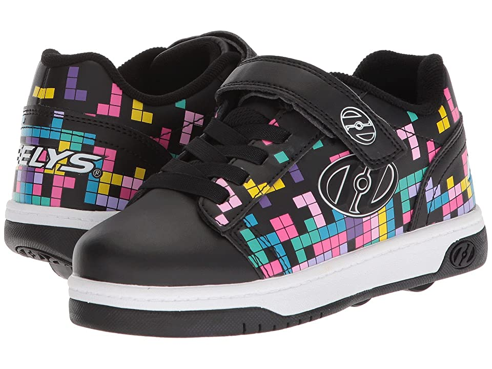 Heelys Dual Up X2 (Little Kid/Big Kid/Adult) (Black/Block Print) Girls Shoes