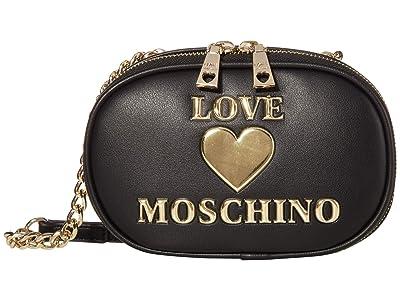 LOVE Moschino Logo Camera Bag (Black) Handbags