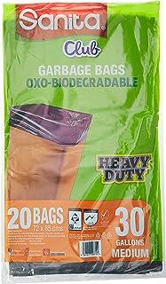 Sanita Oxo Biodegradable Flat Garbage Bag, 30 Gallons Medium, 60 bags, 72 x 85 cm