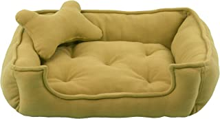 Fluffy's Luxurious Reversible Beige Soft Red Dog/Cat Bed Polyster Filled(Export Quality)- Medium