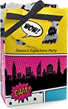 Big Dot of Happiness Bam Girl Superhero - Baby Shower or Birthday Party Favor Boxes - Set of 12