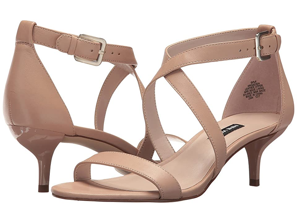Nine West Xaeden Strappy Heel Sandal (Light Natural Leather) Women