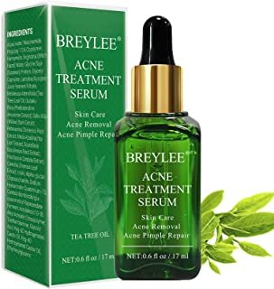 Best Acne Treatment Serum, BREYLEE Tea Tree Clear Skin Serum for Clearing Severe Acne, Breakout, Remover Pimple and Repair Skin (17ml,0.6oz) Review
