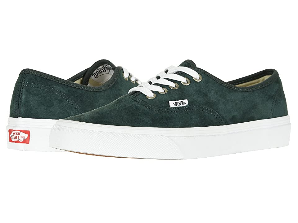 Vans Authentictm ((Pig Suede) Darkest Spruce/True White) Skate Shoes