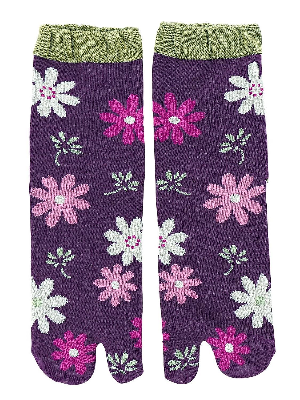 京都くろちく 文化足袋(秋桜) 和柄足袋靴下