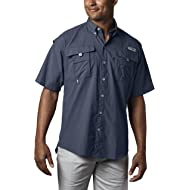 Columbia Men's PFG Bahama II Short Sleeve Shirt, Breathable with UV Protection