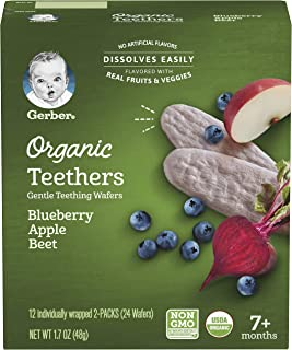 GERBER Organic Teethers - Blueberry Apple Beet 48g