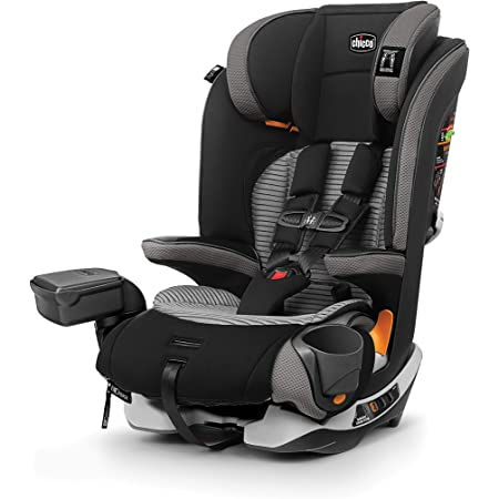 Chicco MyFit Zip Air 2-in-1 Harness + Booster Car Seat for Toddlers and Big Kids, 5-Point Harness, Belt-Positioning Booster, Zip-and-Wash Fabrics, 3D AirMesh for Breathability, Q Collection, Black