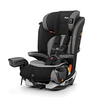 Chicco MyFit Zip Air 2-in-1 Harness + Booster Car Seat for Toddlers and Big Kids, 5-Point Harness, Belt-Positioning Booster, Zip-and-Wash Fabrics, 3D AirMesh for Breathability, Q Collection, Black: image