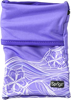 Sprigs Unisex Banjees 2 Pocket Wrist Wallet for Travel, Running, & Hiking, Purple Surf, One Size Fits Most