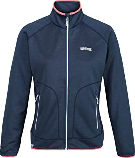 Regatta Women's Cinley II Hybrid Stretch Side Panels Full Zip Softshell Jacket, BlueOpal/Navy, 18