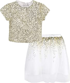KRISP Girls Set Dress Sequin Top Tutu Skirt Party Wedding Flower Toddler Princess 3-8 Y