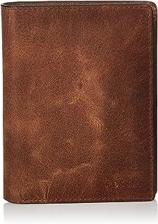 Fossil Men's Derrick Leather RFID Blocking International Combination Wallet