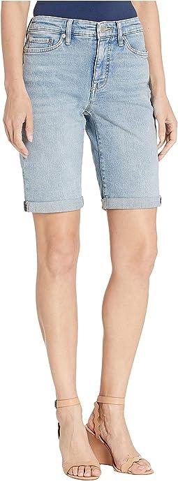 58231eafa3 Blue. 1. LAUREN Ralph Lauren. Rolled-Cuff Denim Bermuda Shorts
