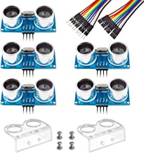 Smraza Sensor Ultrasonidos, HC-SR04 Kits de Sensores de Distancia por Ultrasonidos para Arduino R3 Mega2560 Raspberry Pi, Hoja de Datos Disponible para Descargar