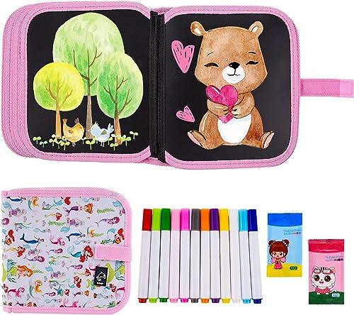 Ulikey Enfant Doodle Planches, Enfant Dessin Livre Effaçable Réutilisable, Tableau de Dessin, Bloc de Dessin, Planche...