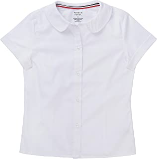 School Uniform Girls Short Sleeve Modern Peter Pan Blouse