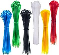 6 Inch Zip Ties, 120pcs Nylon Cable Ties, 6 Multi-colors