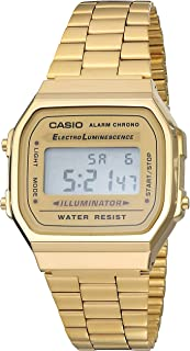 Men's Digital Casio Unisex Classic A168WG-9VT Vintage Japan-Automatic Stainless Steel Watch Gold
