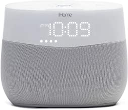 iHome Google Assistant Built-in Chromecast Smart Home Alarm Clock with Wi-Fi Multiroom Audio Bluetooth Speaker System for ...