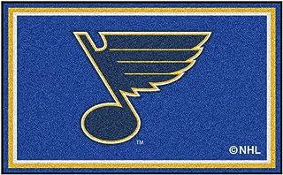 FANMATS NHL St Louis Blues Nylon Face 4X6 Plush Rug