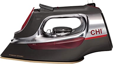 CHI Steam Iron for Clothes with Titanium Infused Ceramic Soleplate, 1700 Watts,..