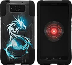 MINITURTLE Compatible with Motorola Droid MAXX, Motorola Droid Ultra, Dual Layer Shell Strike Impact Stand Case w/Unique Graphic Images White Dragon