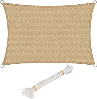 comprar comparacion WOLTU Toldo Vela de Sombra Rectangular Prevención Rayos UV Solar protección Piel Resistente y Transpirable para Jardín,Pat...