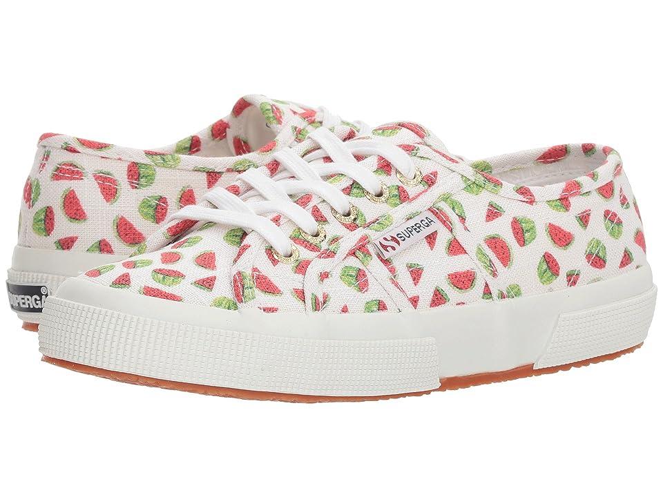 Superga 2750 Linen Fruitw Sneaker (Watermelon) Women