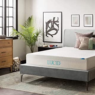 LUCID 12 Inch Gel Memory Foam Mattress - Triple-Layer - Ventilated Gel Foam - CertiPUR-US Certified - 10-Year Warranty - Queen