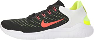 Nike Men's Free RN 2018 Black/Bright Crimson/Volt/White Size 14 D US