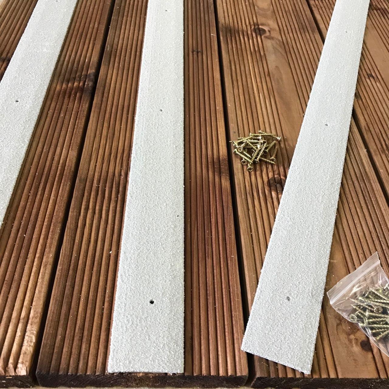 gris Lot de 20 bandes antid/érapantes pour terrasse de 1000 mm de large 50 mm de large beige marron gris jaune vert noir