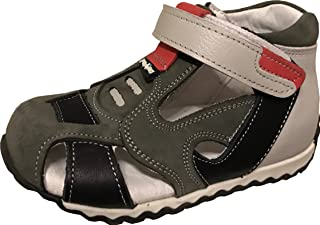 19dfadb5f9 PERLINA Boys Shoes Balikesir 1105-2 Turkish Orthopedic Leather Summer  Sandals with Arch Support