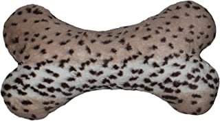 product image for BESSIE AND BARNIE Deluxe Extra Plush Faux Fur Aspen Snow Leopard Pet Dog Luxury Fashion Bone Toy Pillow