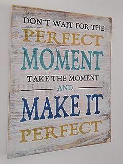 Cartel de Madera Con Frases motivadoras, optimistas, con sentido del humor y citas célebres. Ideas para Regalar o Decorar....