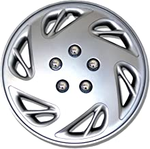 TuningPros WSC-054S15 Hubcaps Wheel Skin Cover 15-Inches Silver Set of 4