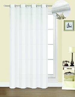 comprar comparacion Forentex Cortinas Confección B-0576 Visillos Translúcida para Ventanas/Puertas, Polyester, Blanco, 300x260 cm