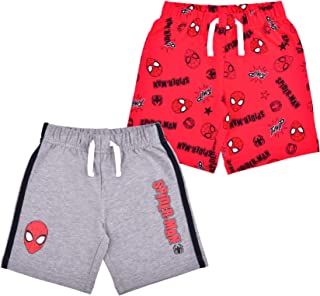 Marvel Spiderman 2 Pack Shorts Set for Boys, Printed Shorts Set