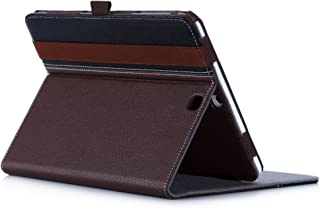 ProCase Galaxy Tab S2 9.7 Case, Premium Stand Folio Case Cover for Galaxy Tab S2 Tablet (9.7 Inch, SM-T810 T815 T813) with Numerous Viewing Standing Angles -Brown/Black
