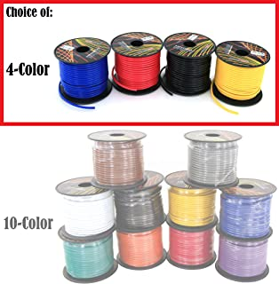 14 Gauge 4 Color Pack in 100 ft Roll (400 Feet Total) Copper Clad Aluminum CCA Low Voltage Primary Wire for Automotive Harness Car Audio Video Wiring. Also in 10 Color Combo