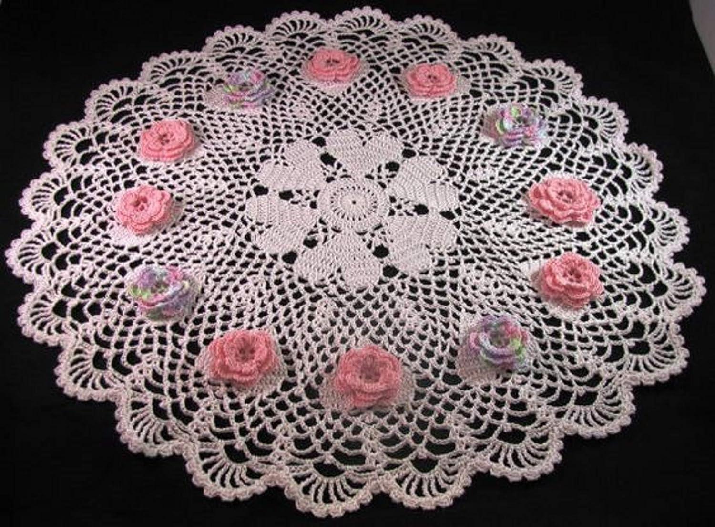 Brand Memphis Mall Topics on TV new handmade Kronecrochet Valentine doily crochet