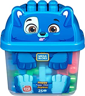 Mega Bloks First Builders Puppy Bucket with 25-Colorful Blocks
