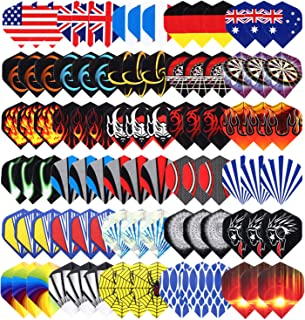 Niubixx Standard Dart Flights 30 Sets 90 Pcs Durable PET and Laser Replacement Feather..