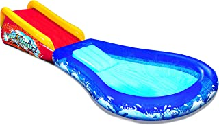 BANZAI Inflatable Wave Crasher Surf Water Slide and Kiddie Pool with Body Board