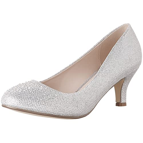 1a4f7fd771d5 Bonnibel Wonda-1 Womens Round Toe Low Heel Glitter Dress Pumps