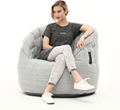 Ambient Lounge® Butterfly Sofa Premium Outdoor Bean Bag in Silverline UV Grade AA+ (Includes Filling). Waterproof, Commerc...