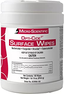 Micro-Scientific Opti-Cide3 Medical Disinfecting Wipes Healthcare Grade Disinfectant Cleaner Surface Wipes